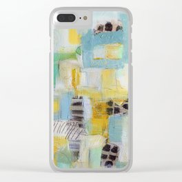 Abstract acrylic painting Clear iPhone Case