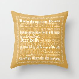 My Favorite Things - Gold Throw Pillow
