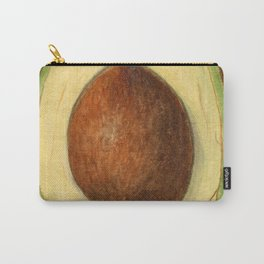 Vintage Illustration of an Avocado Carry-All Pouch