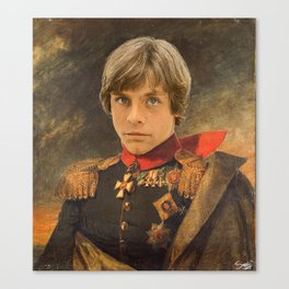 Luke SkyWalker General Portrait Painting | Fan Art Canvas Print
