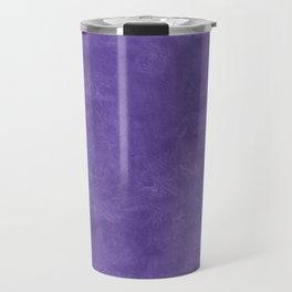 Ultra Violet Oil Pastel Color Accent Travel Mug