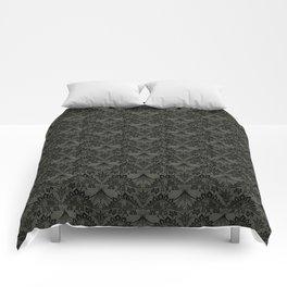 Stegosaurus Lace - Black / Grey - Comforters