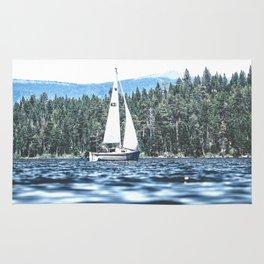 Calm Lake Sailboat Rug