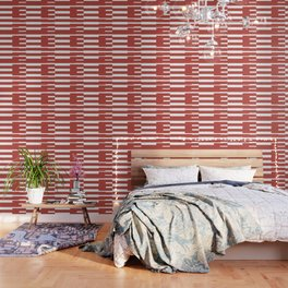 Big Stripes In Red Wallpaper