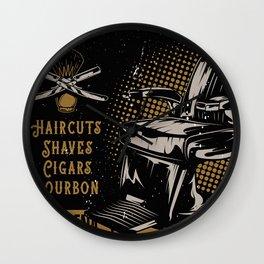 Gentlemen's Barber Shop LA Wall Clock