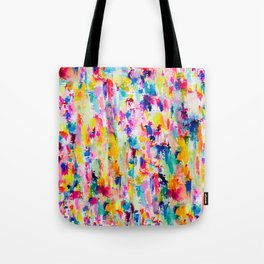 Bright Colorful Abstract Painting in Neons and Pastels Tote Bag