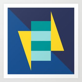 Block And Triangle #7 - Abstract Color Study Art Print