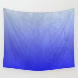 Blue Ice Glow Wall Tapestry
