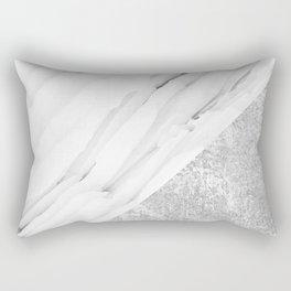 Grey / White Marble Rectangular Pillow