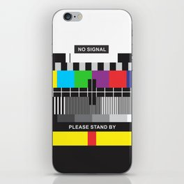 TV No Signal iPhone Skin