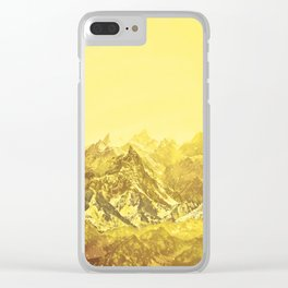Mountains Yellow Clear iPhone Case