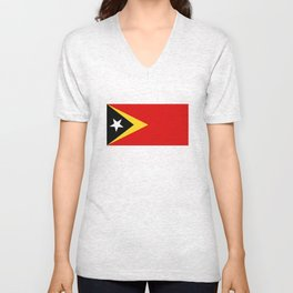 East Timor country flag Unisex V-Neck