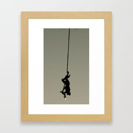Just Hanging Framed Art Print