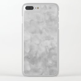 Soft Gray Clouds Texture Clear iPhone Case