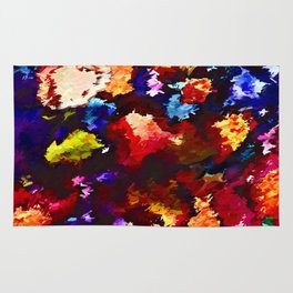 Flower Market Abstract Rug