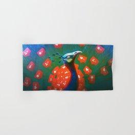 Social Media Peacock Hand & Bath Towel