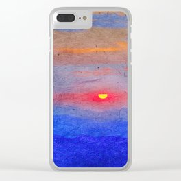 Paper-textured Sunset Clear iPhone Case