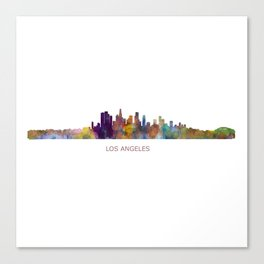 Los Angeles City Skyline HQ v1 Canvas Print