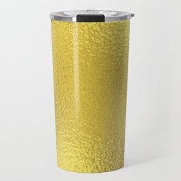 Simply Metallic in Yellow Gold Travel Mug