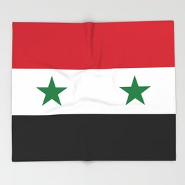 Syrian flag - may PEACE prevail Throw Blanket