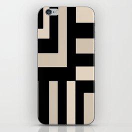 Black and Tan iPhone Skin