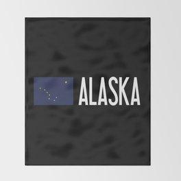 Alaska: Alaskan Flag & Alaska Throw Blanket