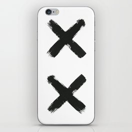 Black Cross iPhone Skin