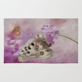 Butterflies on Lilacs Rug