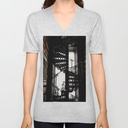 Trinity College Library Spiral Staircase Unisex V-Neck