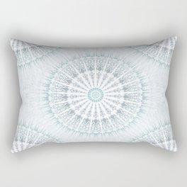 Teal Aqua Mandala Rectangular Pillow