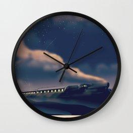 Night train to Scotland Poster Wall Clock