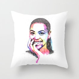 Queen B Throw Pillow