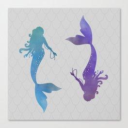 blue & purple mermaid Canvas Print