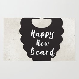 Happy New Beard Rug