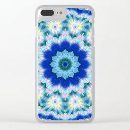 Newer Beginnings Mandala 5 Clear iPhone Case
