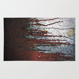 Bloody Rust Drips Rug