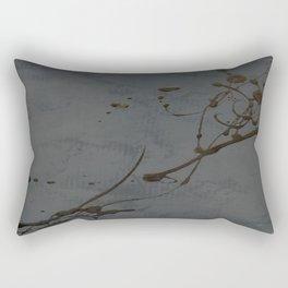 Jackson Pollock Inspired Study In Black - Glam Rectangular Pillow
