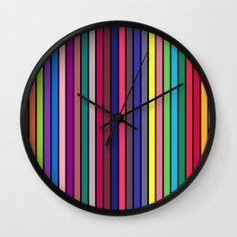 COLOUR ALPHABET on BLACK Wall Clock
