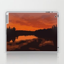 Nopiming Provincial Park Poster Laptop & iPad Skin
