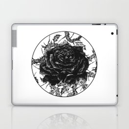 """Rose And Thorns"" illustration by Maxime Potvin Laptop & iPad Skin"