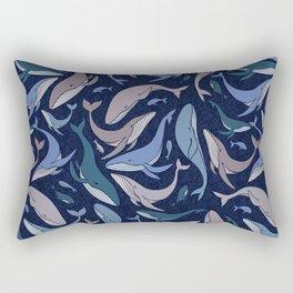A school of whales Rectangular Pillow