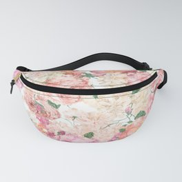 Flowers, Floral Explosion, Floral Pattern, Pink Flowers Fanny Pack
