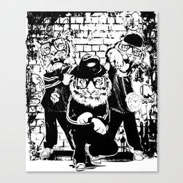 Hip Hop Tigers Canvas Print