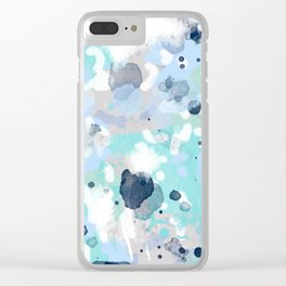 Riley - abstract gender neutral nursery home office dorm decor art abstract painting Clear iPhone Case