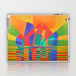 Dreamboat - Cubist Junk In Primary Colors Laptop & iPad Skin