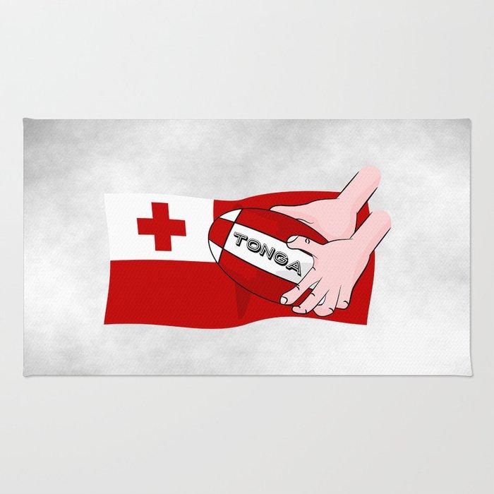 Tonga Rugby Flag Rug