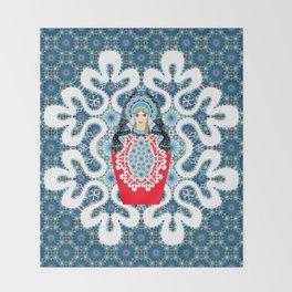 Little Matryoshka Throw Blanket