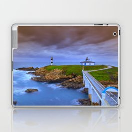 View of Pancha Island in Ribadeo, Lugo before a storm. Laptop & iPad Skin