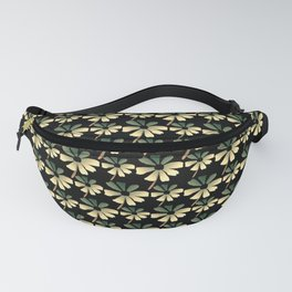 Daisies In The Summer Breeze - Yellow Green Black Fanny Pack