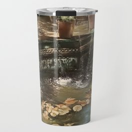 Andalusian garden of the house of the painter Sorolla in Madrid Travel Mug
